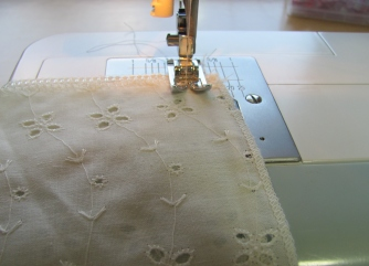 sew the side seams from the bottom