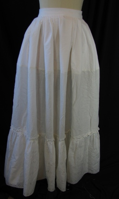 front of petticoat
