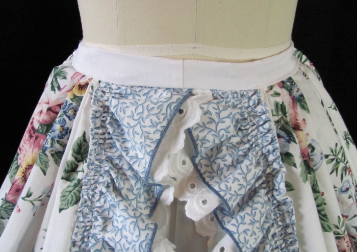 front of overskirt