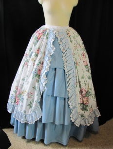 overskirt front, with bum pad