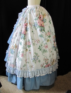 overskirt side, with bum pad