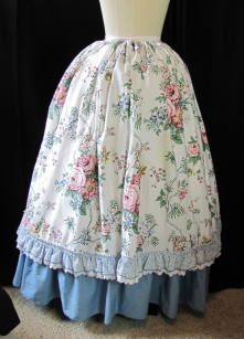 overskirt back, with bum pad