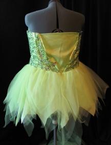 skirt trimmed--back