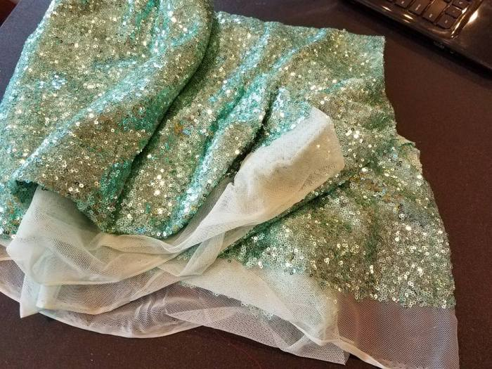 on the go linens:  glitz mesh sequins