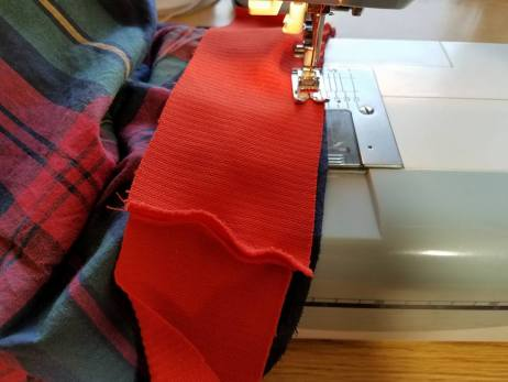 stitching on right sides together
