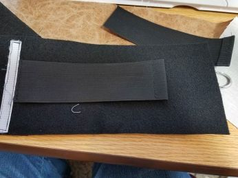 inside of waistband with elastic for size adjustment