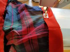 sewing on the wasitband