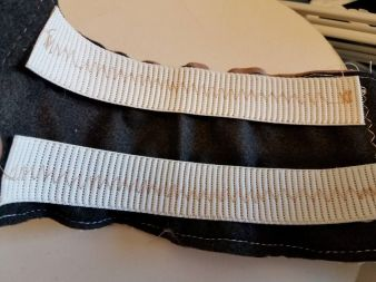 two rows of elastic on the back side of the waistband