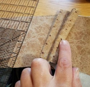 marking the lacing holes
