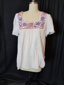 front of embroidered blouse
