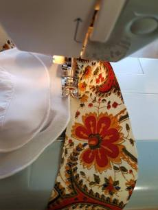 stitching on the sleeve trim