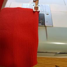 fold and stitch the front two tucks