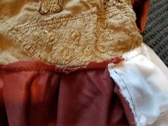 underskirt attached to bodice