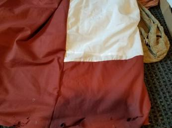 slicing the skirt together