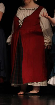 raised waist peasant dress