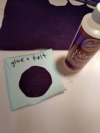 fabric glue and felt