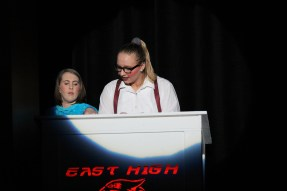 Ms. Darbus handing the note, High School Musical