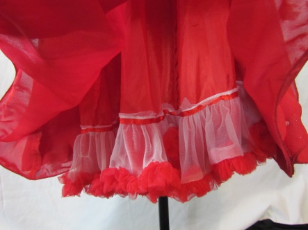 pettiskirt pieces on the lining