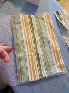 sleeve panels backed by scrap petticoat net