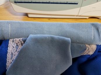 stitching securing elastic