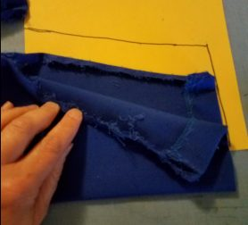 tracing the sleeve to make a cuff pattern