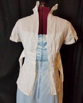 blouse split up the back