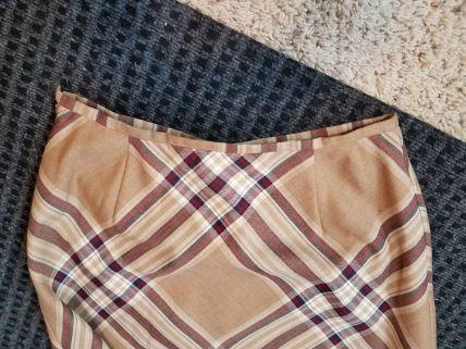 top edge of skirt