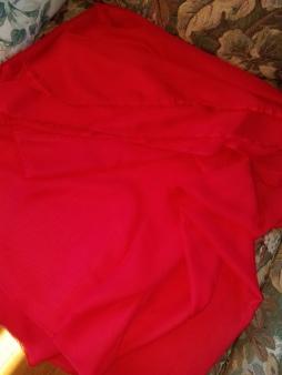 red chiffon, urquid linens
