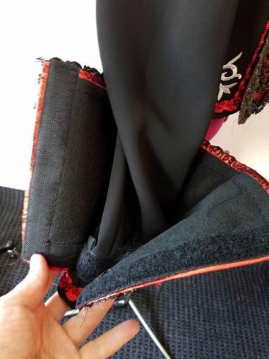 sleeves close with hook & loop tape