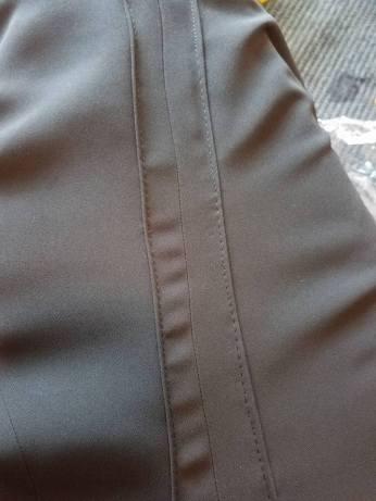 pleats stitched down