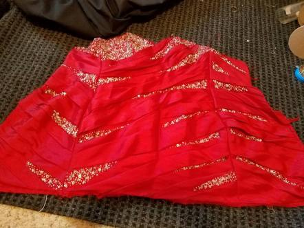 bodice, to be made into sleeves