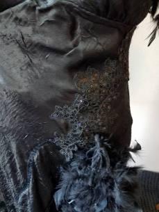 sequin embellishments on the skirt