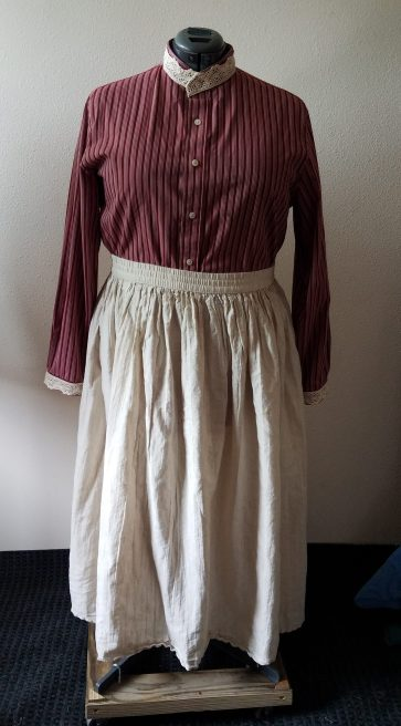 blouse with thrifted skirt