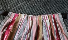 skirt pleated to ribbon for apron