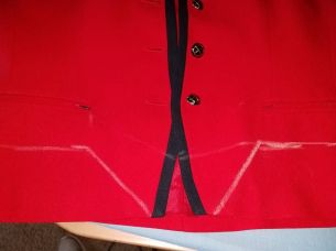 shortening the jacket and reshaping the front