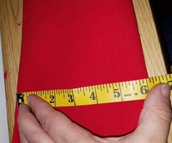 measuring the width of the sleeve part way up