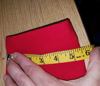 measuring the width near the wrist opening