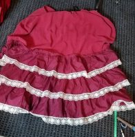 ruffles on skirt