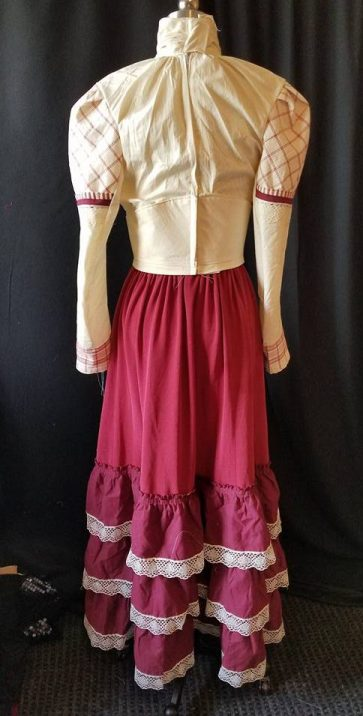 back of burgundy Fun Fair Dress