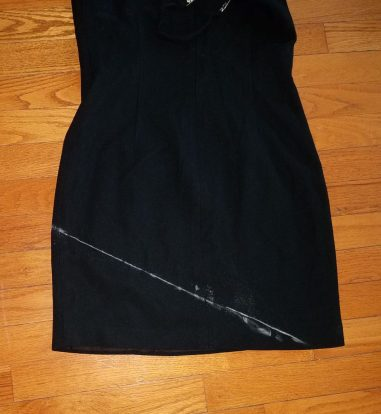 marking the stitching line on the skirt