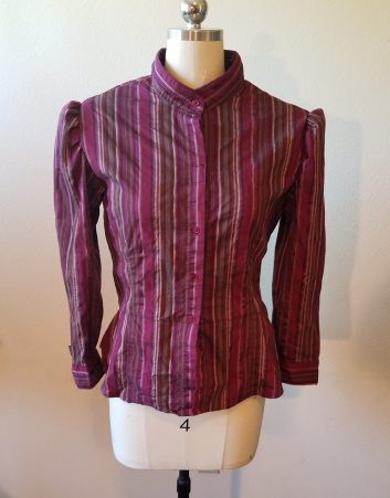 front of finished blouse