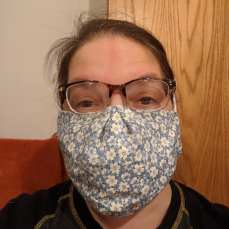 Front, over mask
